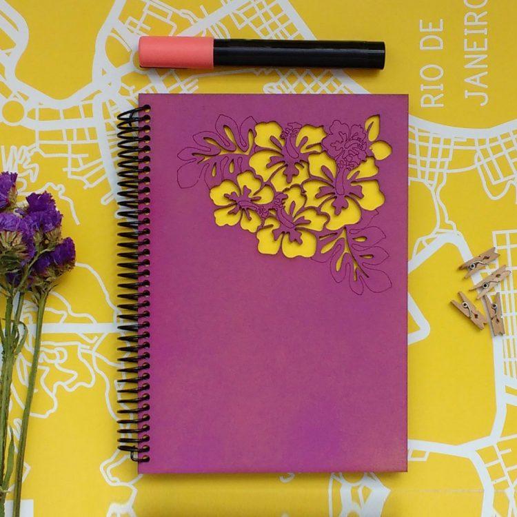 quindeblue-cuaderno-flores-a6-portada