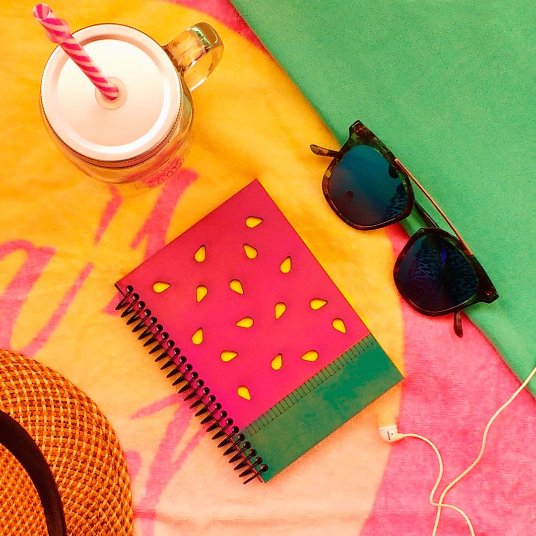 quindeblue-cuaderno-sandia-a6-portada