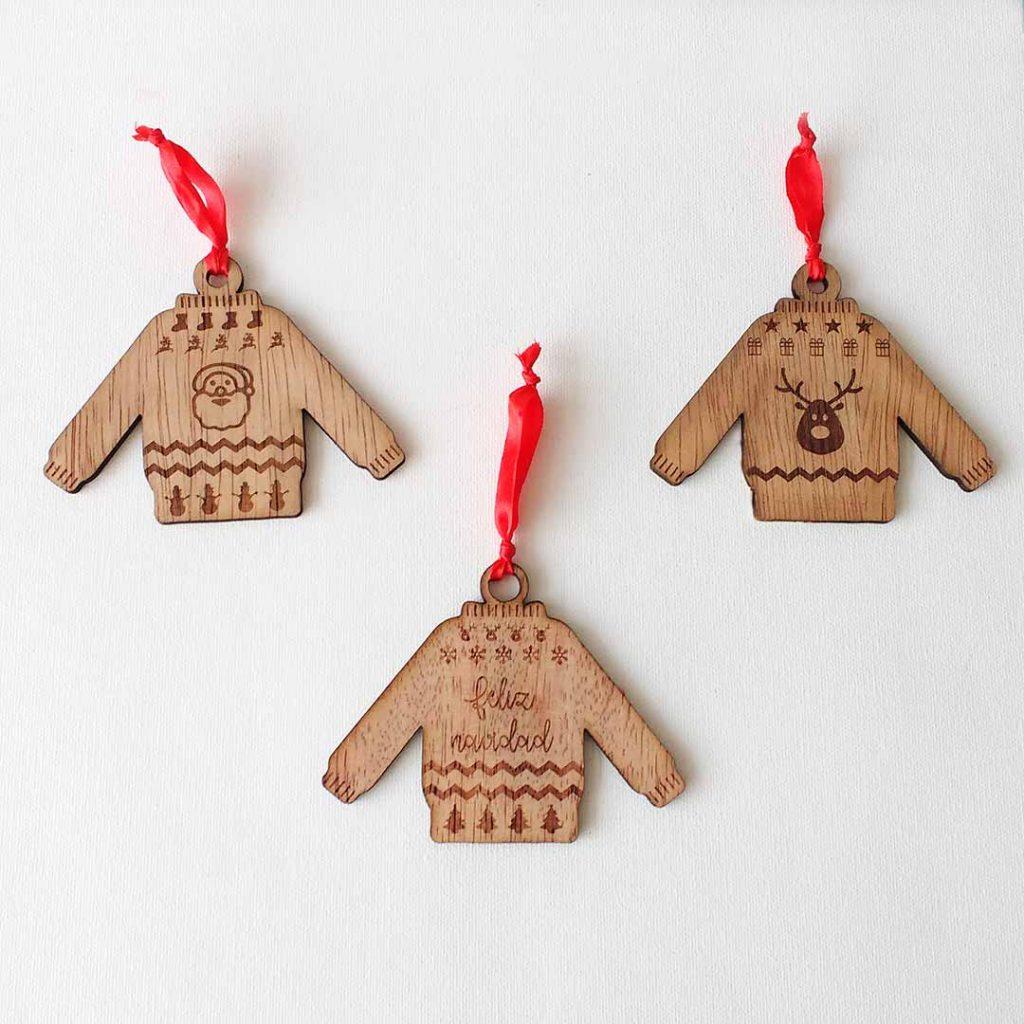 Suéter navideño para el árbol