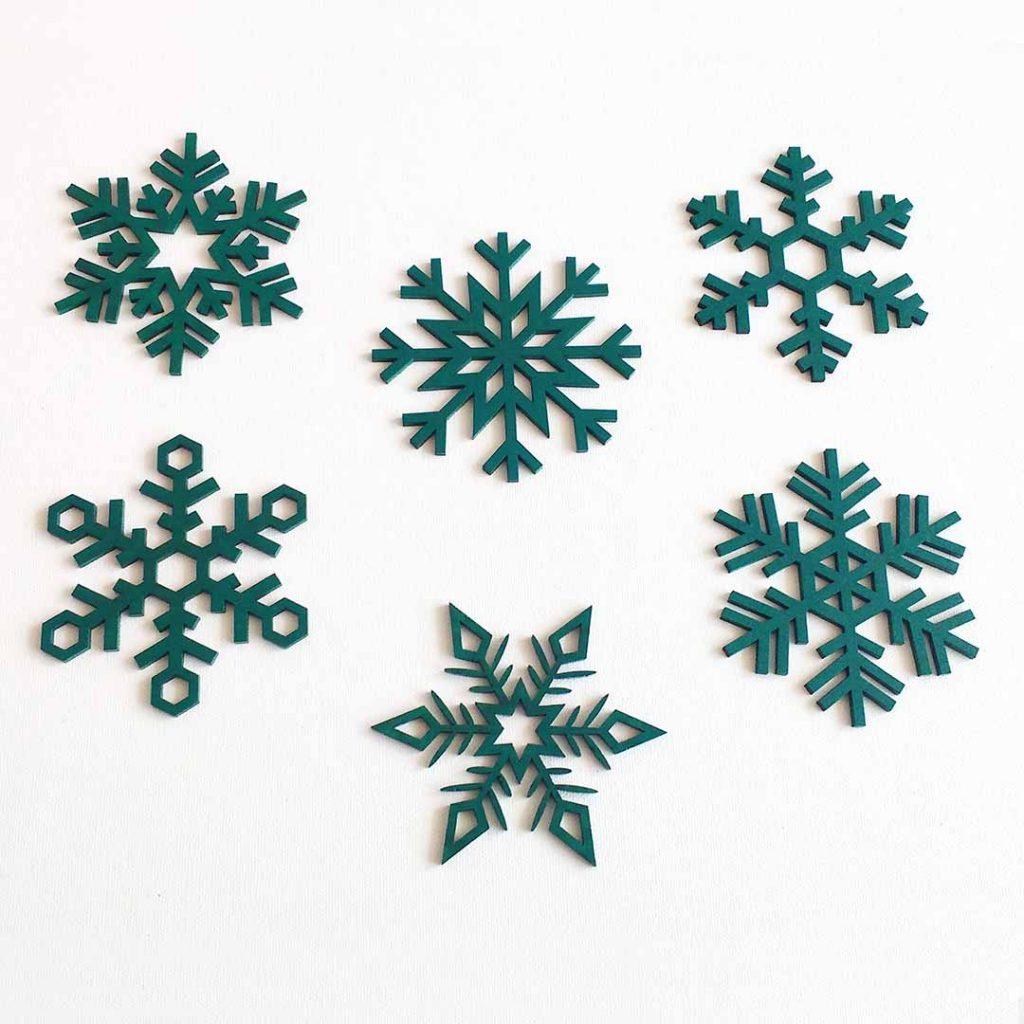 Copos de nieve de colores