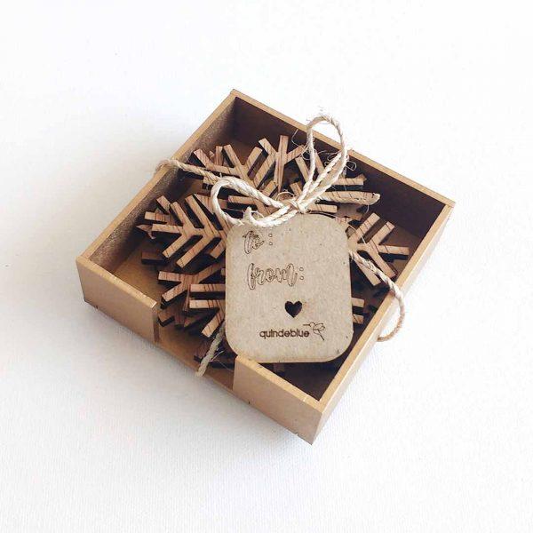 quindeblue-navidad-portavaso-copo-nieve-madera-regalo