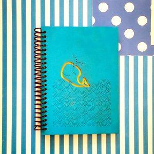 quindeblue-cuaderno-ballena-a6-portada
