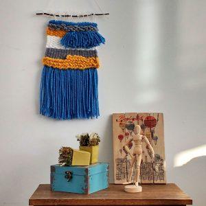 quindeblue-telar-azul-amarillo-pared
