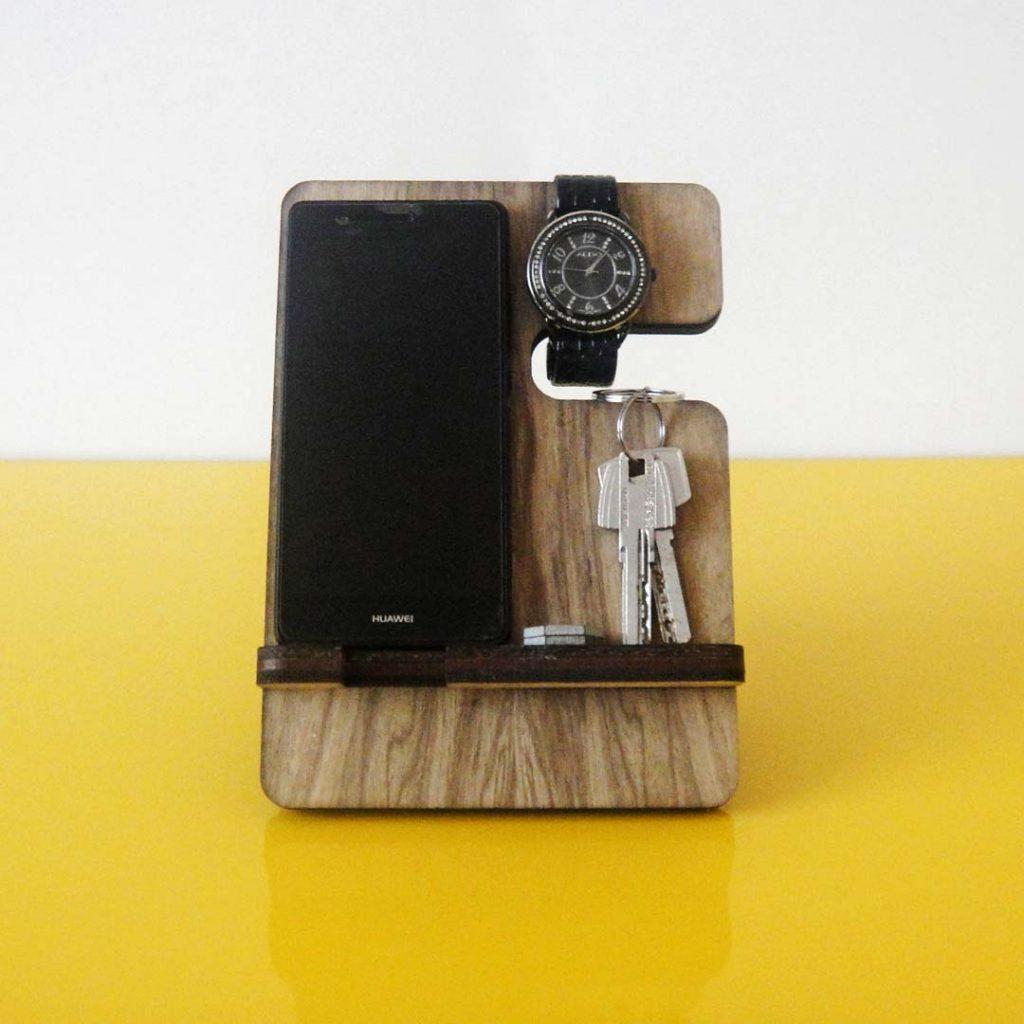 Stand reloj celular billetera