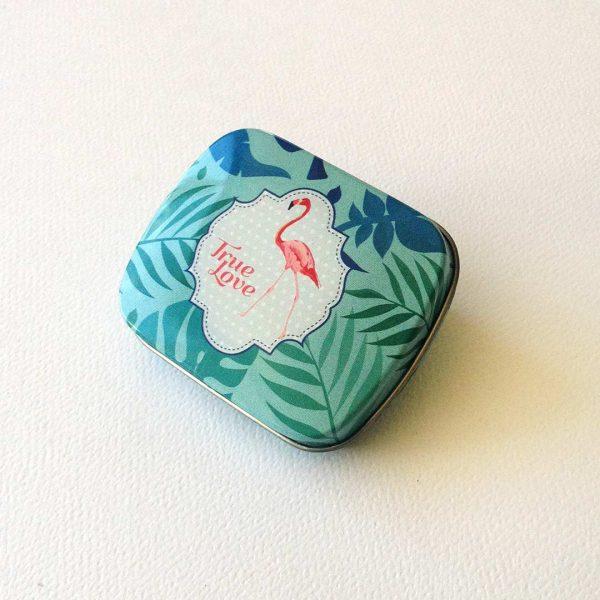 quindeblue-caja-regalo-plata-caja-mentas-flamingo